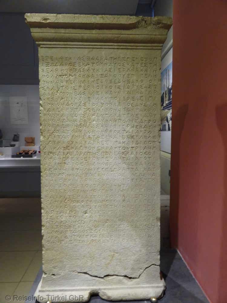Fethiye, das archäologische Museum